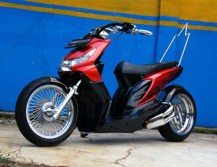 Modifikasi Motor Beat Hitam Modifikasi Honda Beat Sederhana